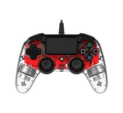 PS4 Nacon Wired Controller Clear Red