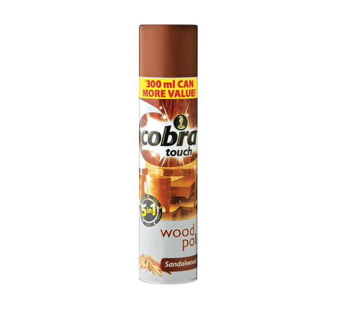 COBRA TOUCH WOOD POLISH 300ML,SANDALWOOD