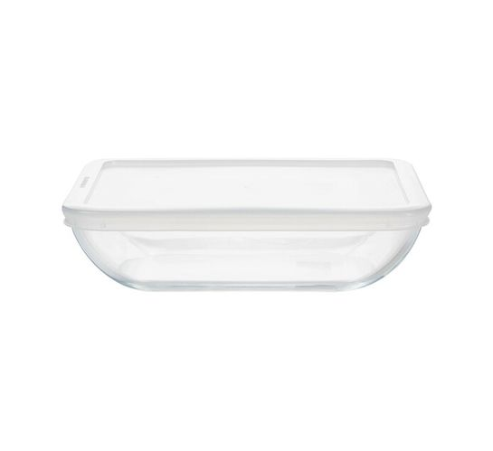 Pyrex 1.3 l Daily Rectangular Glass Roaster with Plastic Lid