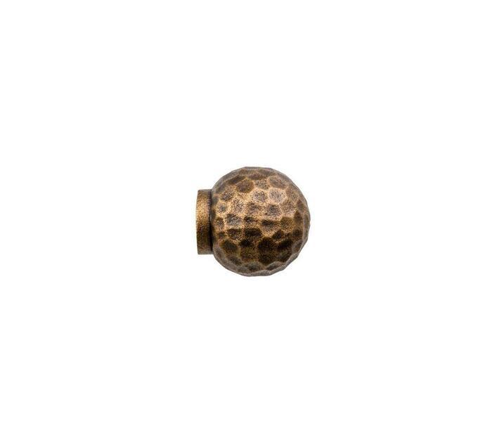Decor Depot 25 mm Curtain Rod Beaten ball Finial Dark Copper