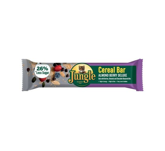 Jungle Cereal Bars Almond berry delux (30 x 40 g)