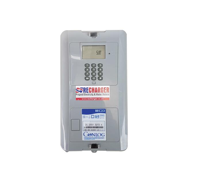RECHARGER Conlog Single Phase Prepaid Electricity Meter - 80Amp