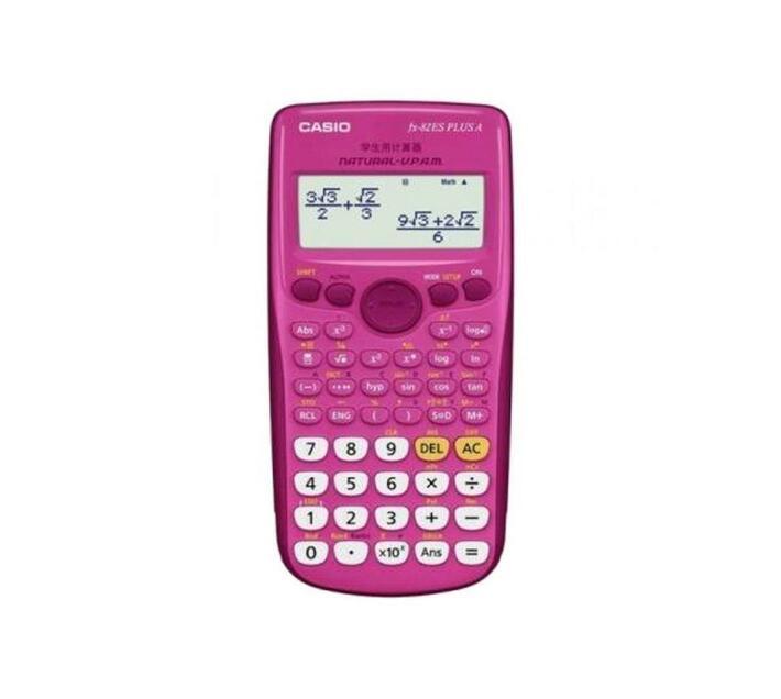 Casio FX-82 ZA Plus Calculator - Pink