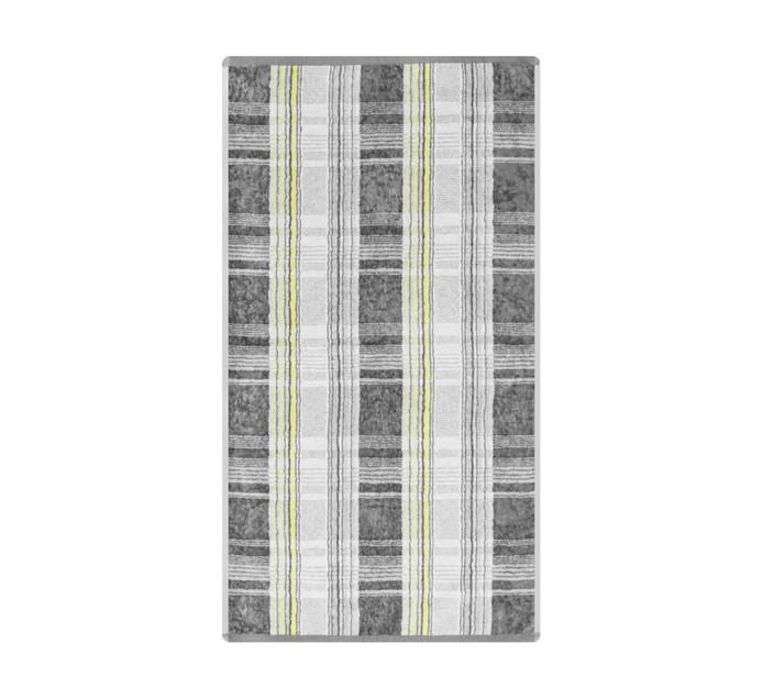 Glodina Tartan Velour Hand Towel Grey & Yellow