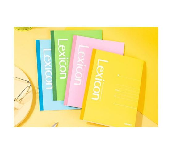 Deli Stationery Office Soft Cover Notebook A5/40 Sheets Asst.