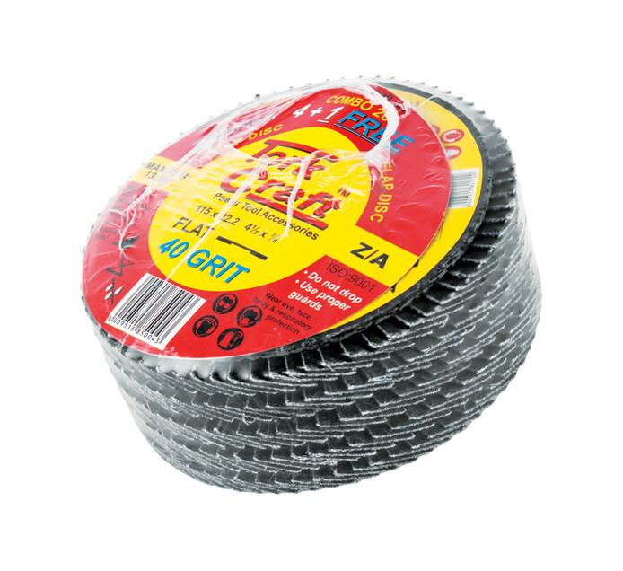 Tork Craft 5 Pack Flap Disc Zirconium 115 MM 40 Grit