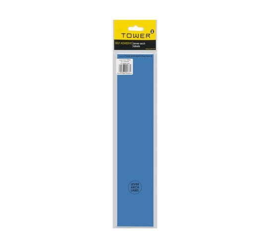 Tower Lever Arch Labels Blue 12-Pack Blue
