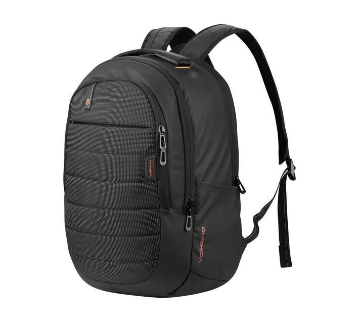 """Volkano Metro Series 15.6"""" (39.6 cm) Backpack in Black With Padded Laptop Compartment and Adjustable Padded Shoulder Straps for Added Comfort During Wear"""