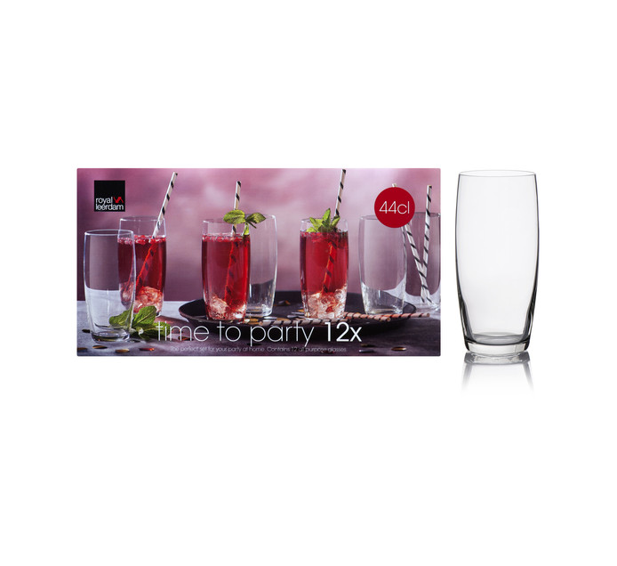 Royal Leerdam 12-Piece Time to Party Hiball Glass Set