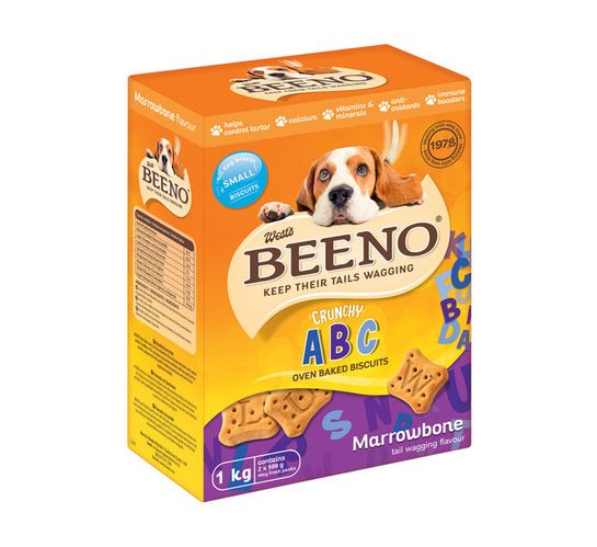 BEENO DOG BISCUITS 1KG, MARROW SMALL