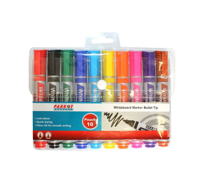 PARROT PRODUCTS Whiteboard Markers (10 Markers, Bullet Tip)