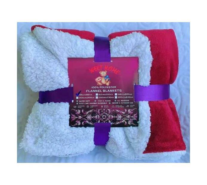 Queen Sherpa Flannel Blanket