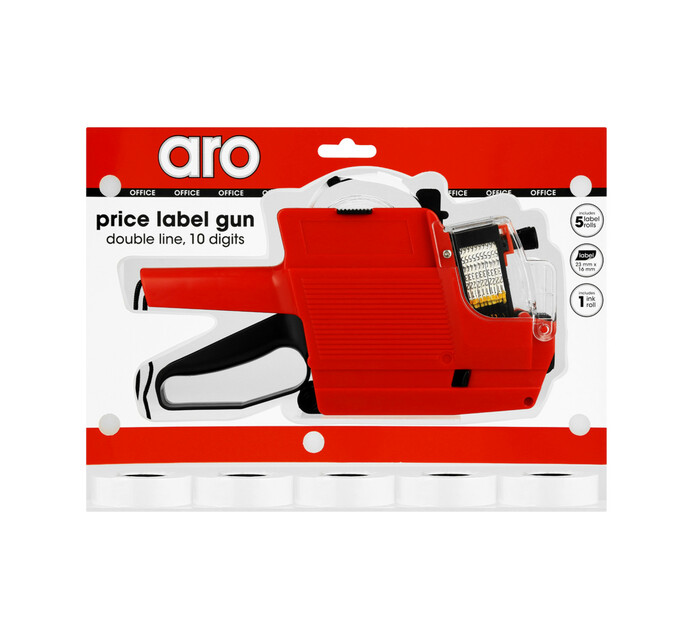 10 Digit Price Label Gun Double Line + Extra Roll Each