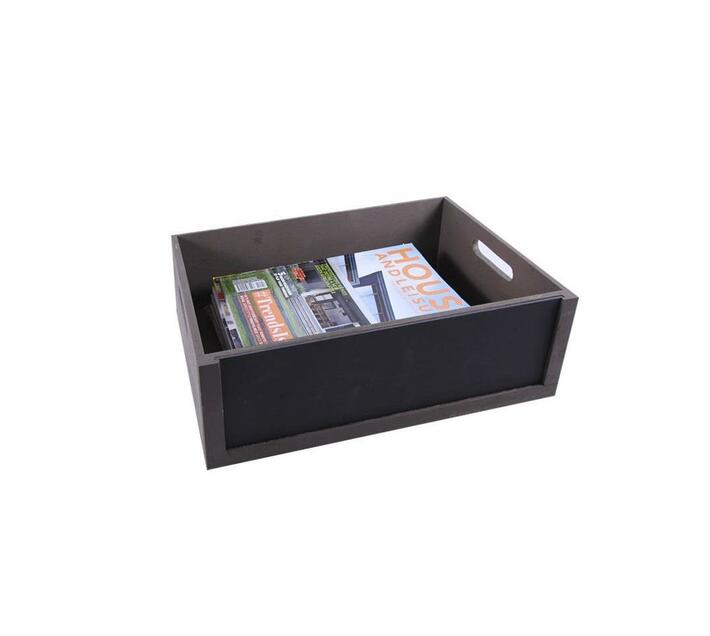 Low Chalkboard Crate Stained Brown Front Chalkboard