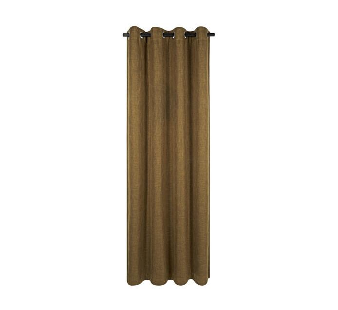 Republic Umbrella 140 x 250 cm Alyssa Blockout Eyelet Curtain Chocolate