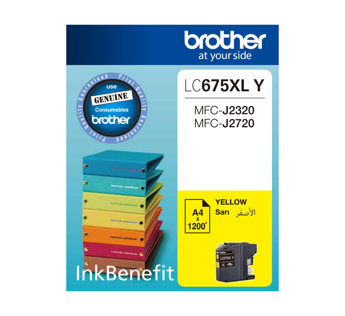 BROTHER 675XL Yellow Ink Cartridge