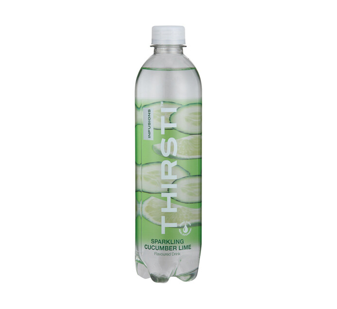 Thirsti Sparkling Flav Water Cucumber & Lime (1 X 500ml)