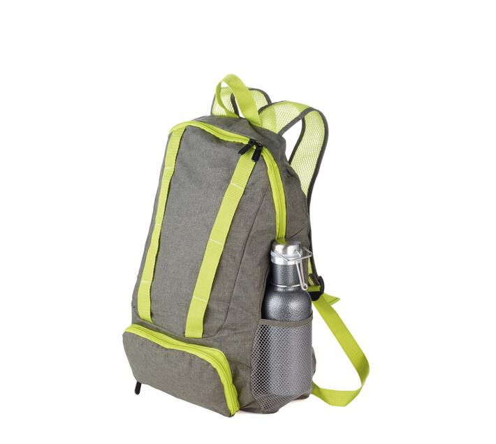 Troika Foldable Backpack 12 Litre Green/Grey