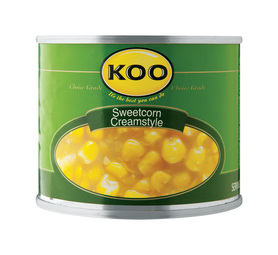 KOO Sweet Corn Cream Style (6 x 215g)