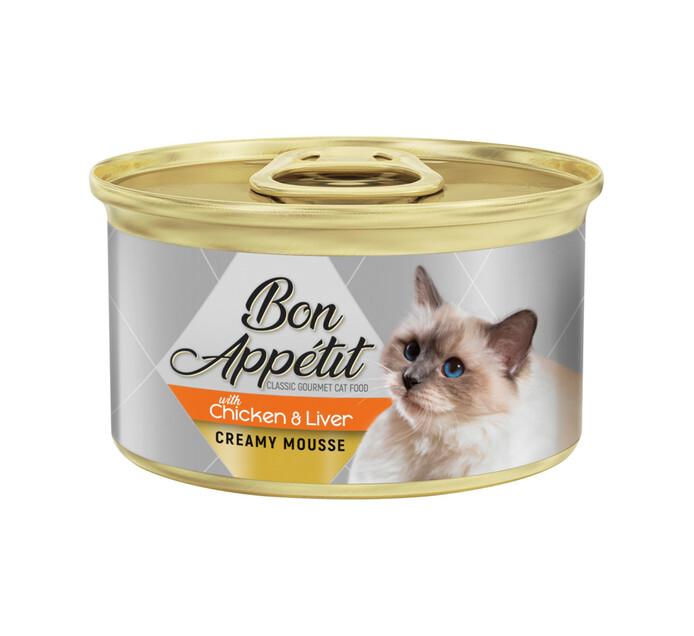 Bon Appetit Crm Cat Mousse Salmon & Shrimp (1X85g)