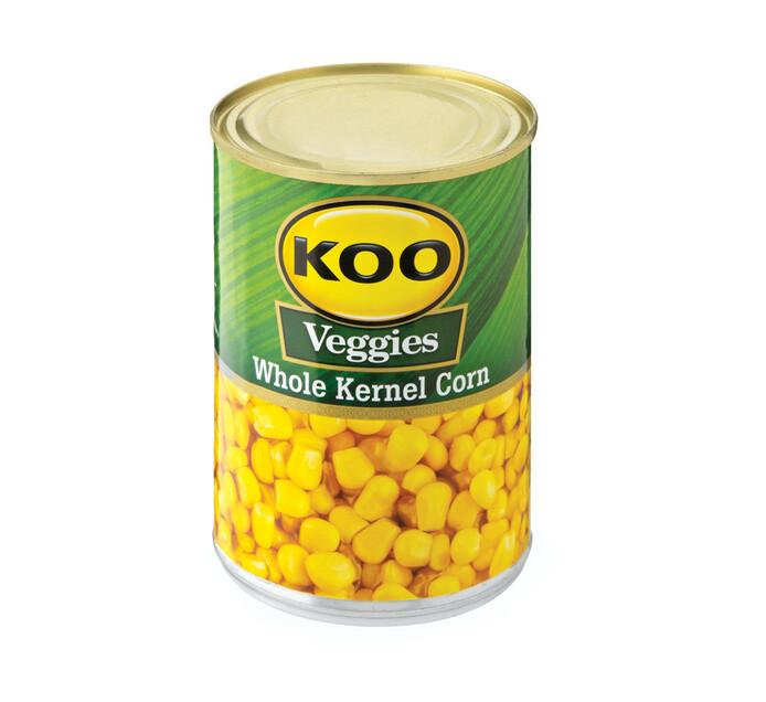 KOO Whole Kernel Corn Brine (12 x 410g)