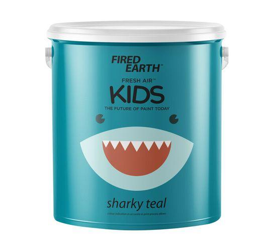 Fired Earth 2.5L Fresh Air Kids Paint Sharky Teal