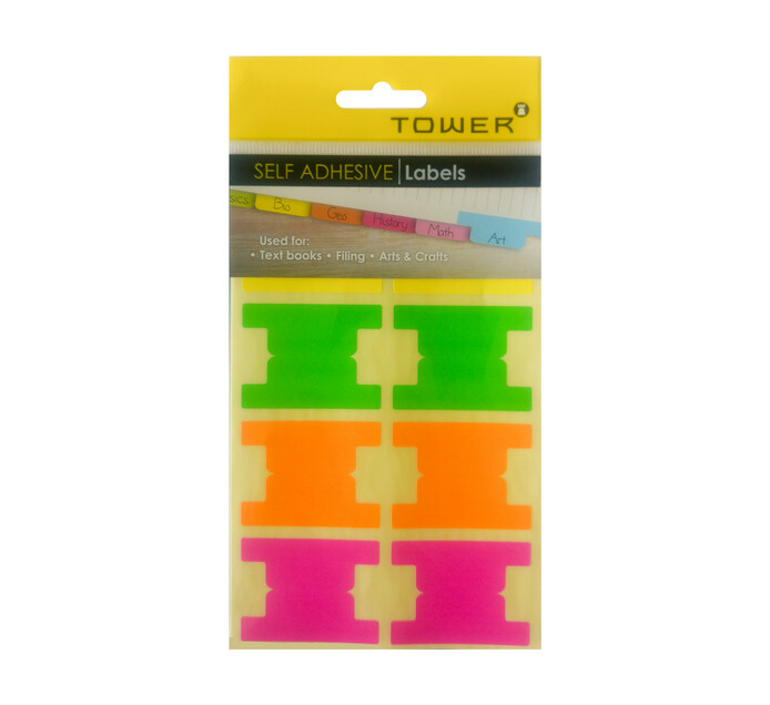 Tower Mixed Neon Self Adhesive Tabs