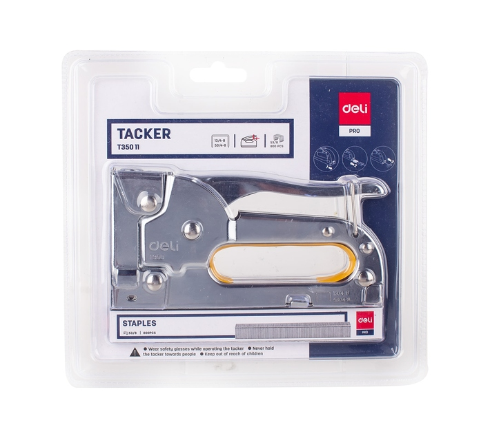 Deli Stationery Tacker Tack Up To 8 Mm Thickness Sliver