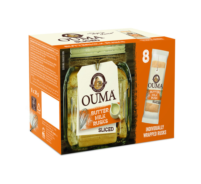 Ouma Single Rusk Sliced Buttermilk (120 x 30g)