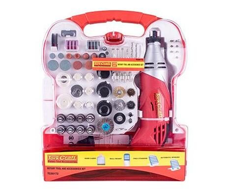 Mini Rotary Tool And Accessory Kit 172 Pc In Plastic Case