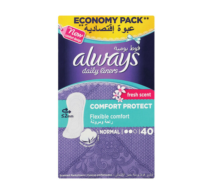 Always Panty Liners Normal Scented (1 x 40's)