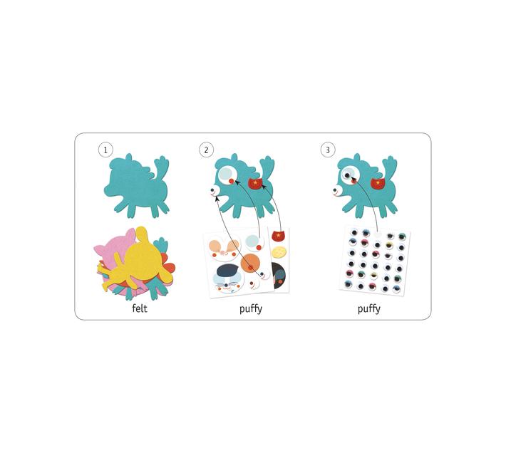 Djeco Sticker Creations- I Love Animals