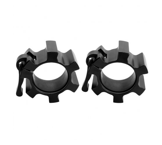 GORILLA SPORTS SA - Pair of Olympic Quick Release Collars Black 50/51 mm