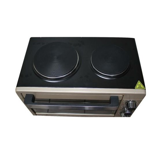 Conic 32L Mini Oven With Two Solid Cooking Plates 3300W - Gold
