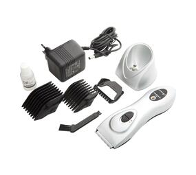 Hair Clipper Rechargeable Metal Silver 3V #