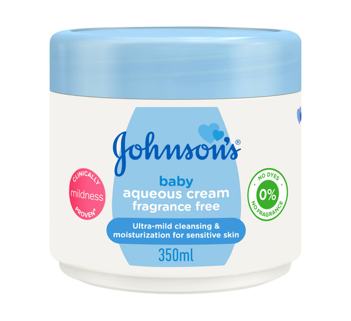 Johnsons Baby Aqueous Cream Fragrance Free (6 X 350ml)