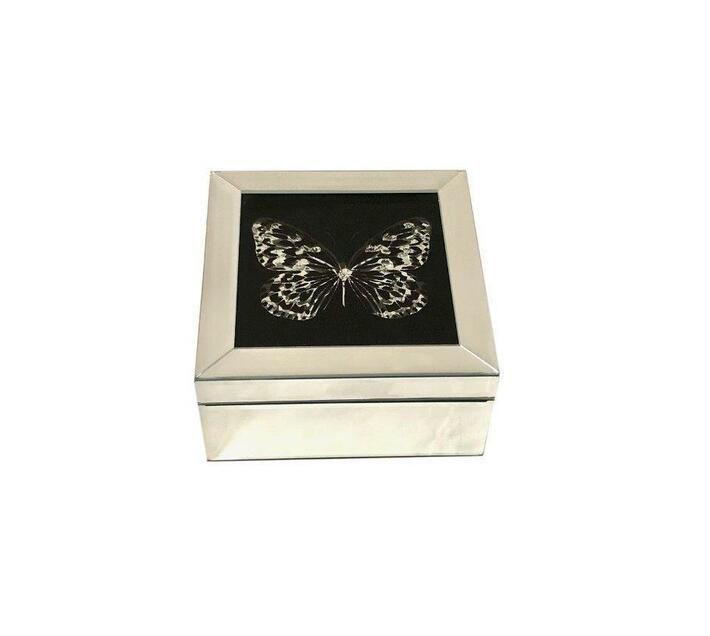 Jewellery Box Mirror Finish Butterfly Design