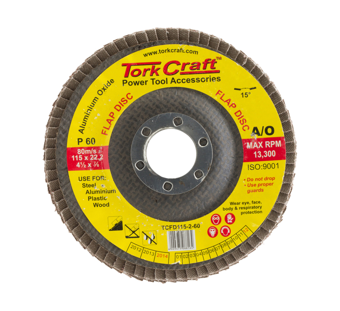Tork Craft 60 Grit Flap Disc