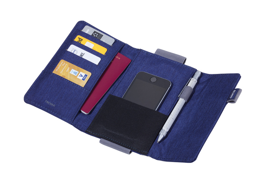 Troika Organiser Document Travel Case TRAVEL OFFICE Blue/Grey