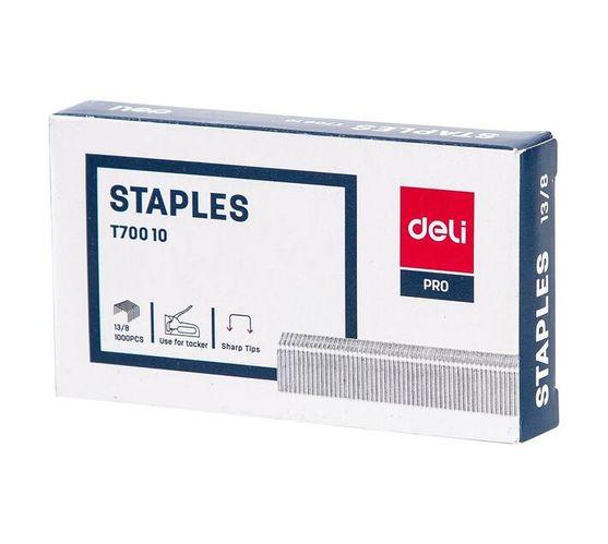 Deli Stationery Staples Staple - 13/81000Pcs Sliver
