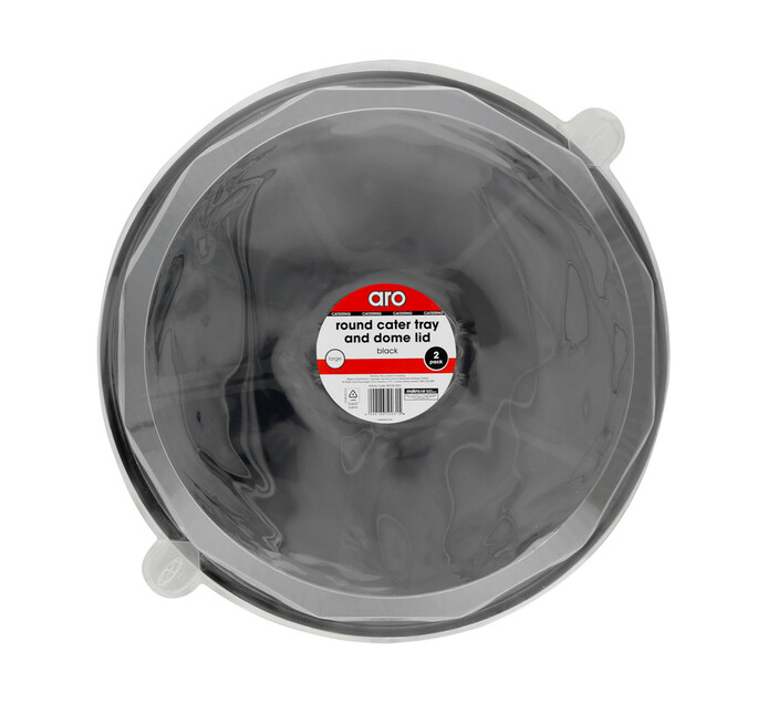 ARO Lazy Susan and Lids Large Black (1 x 2's)