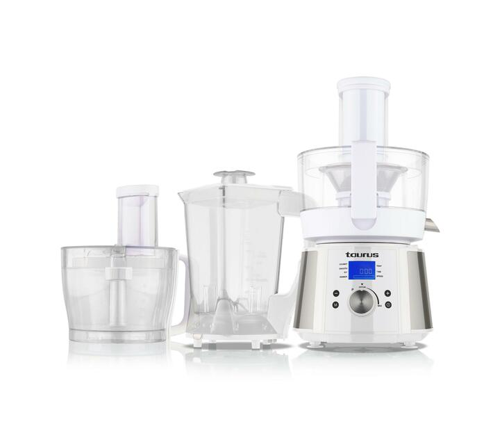 TAURUS Food Processor LCD Display Stainless Steel Brushed 2.4l 800W `Processador De Cuinar`