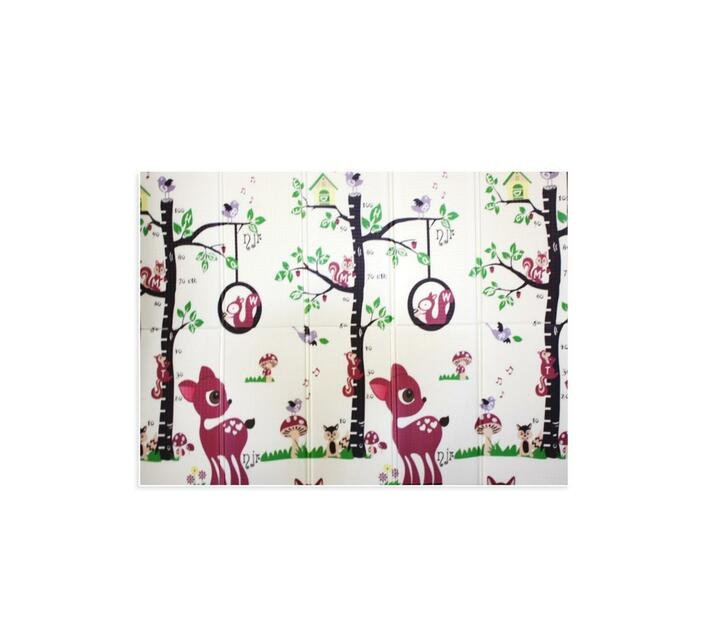 Baby Climbing Non Slip Double Sided Waterproof Play Mat 200cm x 150cm Bambi