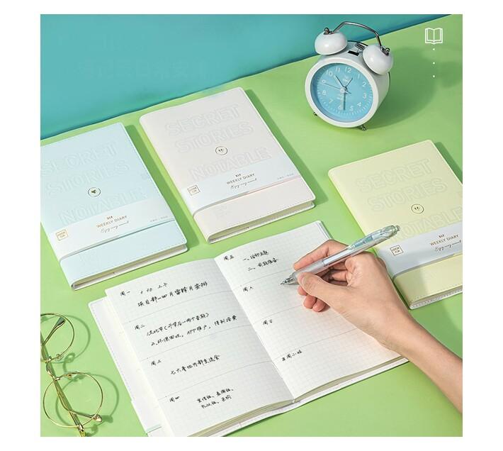 Deli Stationery Planner Notebook 180Mmx120Mm/96 Sheets Asst.