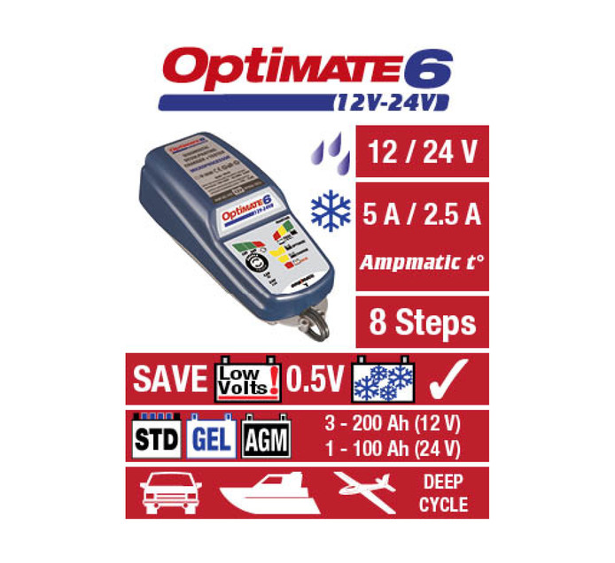 Optimate Optimate 6 Battery Charger/Maintainer
