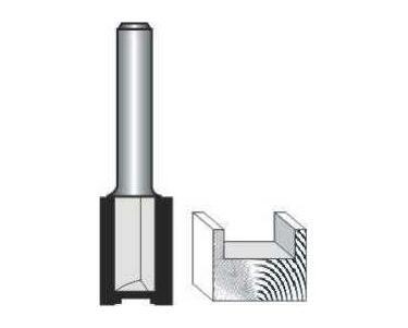 Straight Bit 14mm X 26mm Cut 2 Flute Metric 1/2 Shank