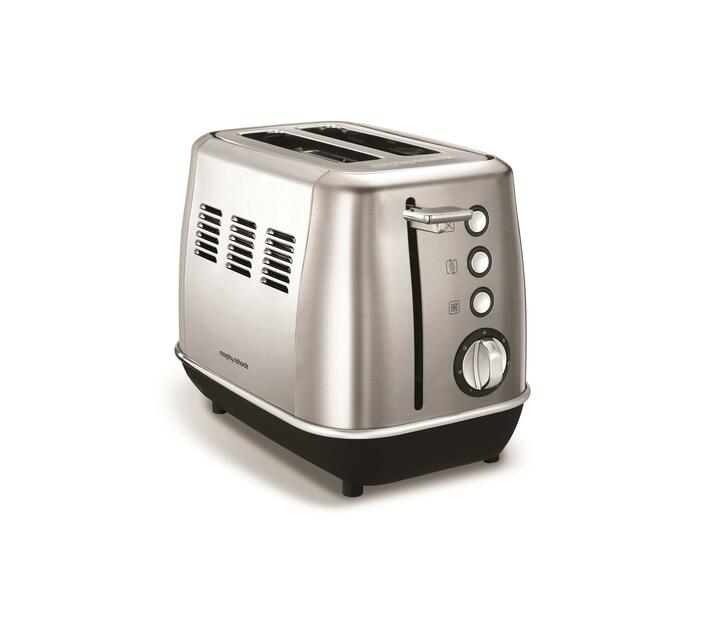 "Morphy Richards 2 Slice Toaster Stainless Steel Brushed 900W ""Evoke"""