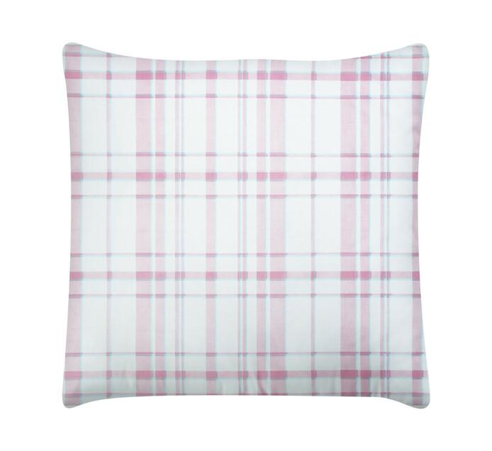 Primaries Continental Pillowcase tartan pink