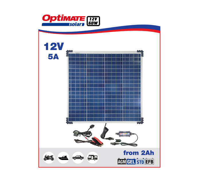 OPTIMATE 60 W 60W Solar Panel Charge Kit