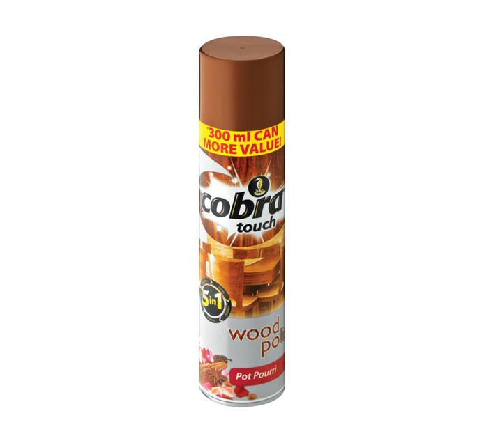 COBRA TOUCH WOOD POLISH 300ML,P/POURRI
